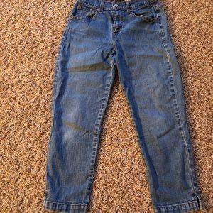 Levi's sz. 8 cropped Capri jeans. High waisted